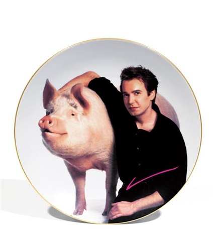 signature plate by jeff koons
