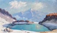 le lac de la sagne belledonne by julien bouvier