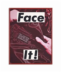 face it (magenta) by barbara kruger