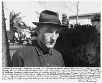 william s. burroughs outside his room in villla mmoneria, tangier, morocco by allen ginsberg