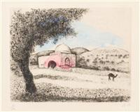 la tombe de rachel (from bible) by marc chagall