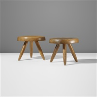 low stools (pair) by charlotte perriand