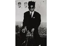 jean michel basquiat, art in area party, new york by roxanne lowit