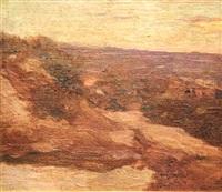 paisaje con rancho by fernando fader