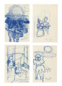 untitled (4 works) by eva hesse