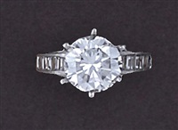 a solitaire ring by bailey, banks and biddle