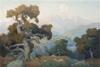 in the foothills at sunset, california landscape by marion kavanaugh wachtel