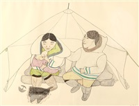 untitled - feeding time by napatchie pootoogook
