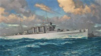 the heavy cruiser h.m.s. cumberland by william mcdowell
