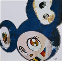 and then x6 blue by takashi murakami