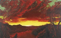 frederic edwin church, twilight in the wilderness by michael ashcroft