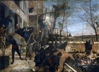 scène de la guerre de 1870 by henri-charles-e. dujardin-beaumetz