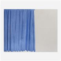 tenda blu (blue curtain) by michelangelo pistoletto