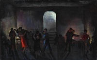 dance and party in a basement by marguerite de corini