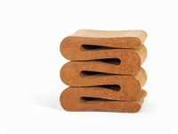 stool easy edges wiggle by frank gehry