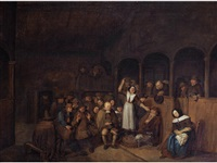 a quakers meeting by egbert van heemskerck the elder