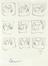 lennon (nine portraits) by yoko ono and john lennon