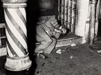 bowery bum, new york by weegee
