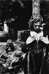 tomb of talma, pere lachaise, paris by helmut newton