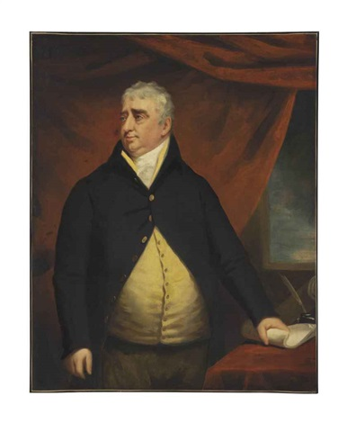 portrait of the right honourable charles james fox three quarter length standing beside a table by john opie