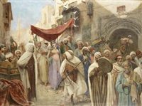 a wedding procession in cairo by fabio fabbi