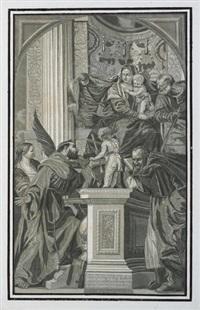 die darbringung im tempel, (after veronese) by john baptist jackson