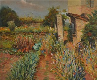 jardin fleuri paysage du midi by marcel dyf