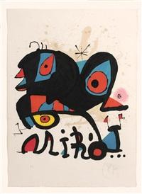 affiche pour l'exposition miro, louisiana humelbaeck by joan miró