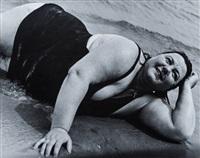 coney island bather, new york by lisette model