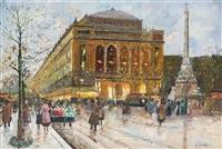 paris boulevard scene by constantine kluge