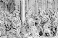 christ washing the feet of his disciples by benedetto caliari