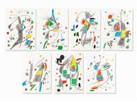 7 plates from 'maravillas con variaciones' by joan miró