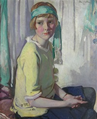seated portrait of violet anderson as a girl by david alison