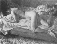 reclining nude by thomas rathmell