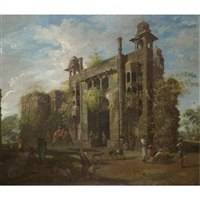 view of the gate of the lal baghanglo-indian paintings and miniatures by robert home