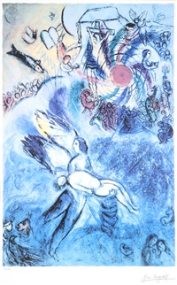 la creation de l'homme (from the bible series) by marc chagall