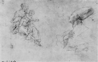 studies of the madonna and child with st. januarius by fabrizio santafede