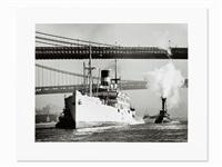 ships on east river, ny by andreas feininger