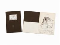 convertible book, eine rührende geschichte, 72 (10 works) by horst janssen