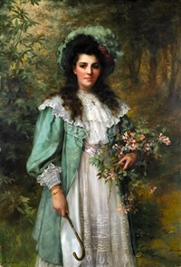honeysuckle by william clarke wontner