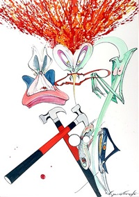 pink floyd, 'the wall' by gerald scarfe