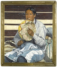 indian entertainer by walter ufer