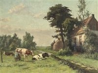 milking the cow by louis soonius