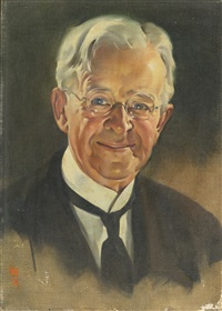 portrait of an older gentleman by norman rockwell