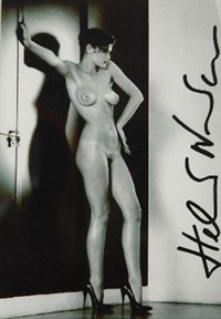 silvia in my studio, paris by helmut newton