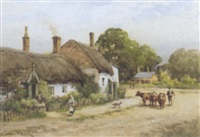 cottage scene by joshua fisher