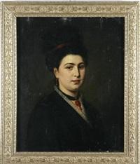 ritratto di giovane dama by vincenzo franceschini