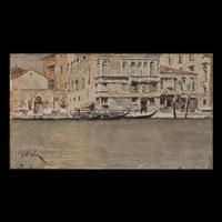 canal grande a venezia by giuseppe abbati