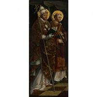 saint etienne et saint grégoire le grand by michael pacher