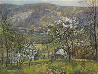 the peaceful valley by edward willis redfield